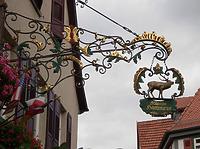 """Ausleger des Gasthauses / Wohn- und Gasthaus """"Hirsch"""" in 74354 Besigheim (Denkmalpflegerischer Werteplan, Gesamtanlage Besigheim, Regierungspräsidium Stuttgart)"""