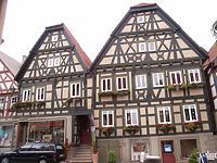 Ansicht on Osten / Wohn- und Geschäftshaus in 74354 Besigheim (Denkmalpflegerischer Werteplan, Gesamtanlage Besigheim, Regierungspräsidium Stuttgart )