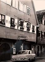 """Ansicht von Osten, 70er Jahre / Gasthaus """"Zum Anker"""" in 74354 Besigheim (Stadtarchiv Besigheim)"""