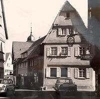 Historische Aufnahme der Nordwestseite / Geschäftshaus in 74354 Besigheim (Stadtarchiv Besigheim)