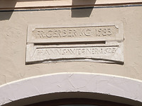 alter und neuer Türsturz / Wohn- und Geschäftshaus in 74354 Besigheim (Denkmalpflegerischer Werteplan,  Gesamtanlage Besigheim  Regierungspräsidium Stuttgart)
