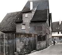 Nordseite um 1960 / Weingärtnerhaus, abgegangen in 74354 Besigheim (Stadtarchiv Besigheim)