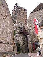 Ansicht von Norden / Oberer Turm, sog. Schochenturm in 74354 Besigheim (2007 - Denkmalpflegerischer Werteplan, Gesamtanlage Besigheim, Regierungspräsidium Stuttgart)