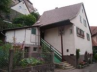 Ansicht von Westen / Wohnhaus, vormals Ziegelhütte in 74354 Besigheim (Denkmalpflegerischer Werteplan, Gesamtanlage Besigheim, Regierungspräsidium Stuttgart)