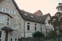 Nordwestseite Gebäude Oberamtdeigasse 6 mit Saalanbau  / Kirchliches Gemeindehaus in 74354 Besigheim (2016 - M.Haußmann)