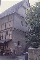 Ansicht von Nordwest / Abgegangene Fachwerkscheune in 74354 Besigheim (M. Haußmann)