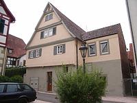 Ansicht von Südost / Wohnhaus in 74354 Besigheim (Denkmalpflegerischer Werteplan, Gesamtanlage Besigheim, Regierungspräsidium Stuttgart)