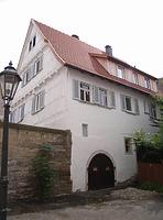 Ansicht von Norden (mit Kellertor) / Wohnhaus in 74354 Besigheim (Denkmalpflegerischer Werteplan, Gesamtanlage Besigheim, Regierungspräsidium Stuttgart)