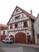Ansicht von Norden / Wohnhaus, Stiftsscheuer (Fruchtkasten) in 74354 Besigheim (Denkmalpflegerischer Werteplan, Gesamtanlage Besigheim, Regierungspräsidium Stuttgart)