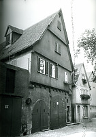 Ansicht von Osten / Wohnhaus, Stiftsscheuer (Fruchtkasten) in 74354 Besigheim (Stadtarchiv Besigheim)