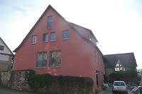 Ansicht von Osten, vorne Pfarrgasse 16 / Wohnhaus, Neubau in 74354 Besigheim (27.10.2016 - M. Haußmann)