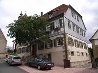 Ansicht von Nordwest / Wohnhaus (ehem. Pfarrhaus) in 74354 Besigheim (2007 - Denkmalpflegerischer Werteplan, Gesamtanlage Besigheim, Regierungspräsidium Stuttgart)