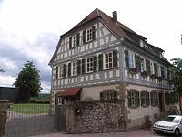 Ansicht von Norden / Wohnhaus (ehem. Pfarrhaus) in 74354 Besigheim (2007 - Denkmalpflegerischer Werteplan, Gesamtanlage Besigheim, Regierungspräsidium Stuttgart)