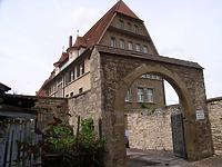 Südseite Hoftor zum Schlosshof / Verwaltungsgebäude (ehem. Oberamt) in 74354 Besigheim (2007 - Denkmalpflegerischer Werteplan,  Gesamtanlage Besigheim  Regierungspräsidium Stuttgart)