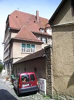 Westseite  aus der Schlossgasse / Verwaltungsgebäude (ehem. Oberamt) in 74354 Besigheim (2007 - Denkmalpflegerischer Werteplan,  Gesamtanlage Besigheim  Regierungspräsidium Stuttgart)
