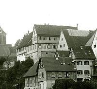 """um 1905  Altes Oberamt """"Altes Schloss""""  / Verwaltungsgebäude (ehem. Oberamt) in 74354 Besigheim (um 1905 - Stadtarchiv Besigheim)"""