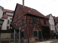 Nordseite / Wohnhaus u. Scheuer in 74354 Besigheim (2007 - Denkmalpflegerischer Werteplan,  Gesamtanlage Besigheim  Regierungspräsidium Stuttgart)