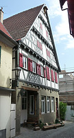 Anicht von Südwest nach Restaurierung / Wohnhaus in 74354 Besigheim (2017 - M. Haußmann)