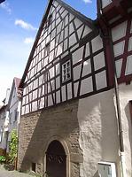 Ansicht von Westen / Scheune und Wohnhaus in 74354 Besigheim (2007 - Denkmalpflegerischer Werteplan, Gesamtanlage Besigheim, Regierungspräsidium Stuttgart)