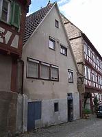 Ansicht von Südwest, vor dem Abbruch / Wohnhaus in 74354 Besigheim (2007 - Denkmalpflegerischer Werteplan, Gesamtanlage Besigheim, Regierungspräsidium Stuttgart)