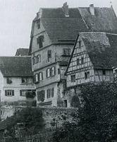 Ansicht von Norden / Wohnhaus (ehemalige Stadtschreiberei) in 74354 Besigheim (Stadtarchiv Besigheim)