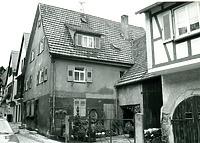 Ostseite 1988 / Wohnhaus in 74354 Besigheim (1988 - Stadtarchiv Besigheim)