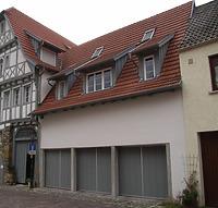 Neubau Nordseite / Wohnhaus und Garagen in 74354 Besigheim (Denkmalpflegerischer Werteplan,  Gesamtanlage Besigheim  Regierungspräsidium Stuttgart)