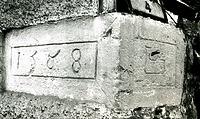 Jahreszahl und Handwerkerzeichen / Wohnhaus in 74354 Besigheim (1980 - M.Haußmann)