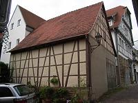 Nordostseite / Scheune in 74354 Besigheim (Denkmalpflegerischer Werteplan,  Gesamtanlage Besigheim  Regierungspräsidium Stuttgart)