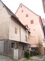 Scheune zu Vorstadt 1, Westseite / Wohnhaus in 74354 Besigheim (Denkmalpflegerischer Werteplan,  Gesamtanlage Besigheim  Regierungspräsidium Stuttgart)