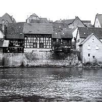 Fachwerkscheuer 11/1; Ansicht von Südwest / Wohnhaus mit Scheune in 74354 Besigheim (Stadtarchiv Besigheim)