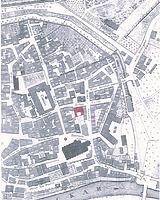 Lageplan (Ausschnitt aus dem Urkataster von 1823) / Alte Mensa Prinz Karl in 72070 Tübingen