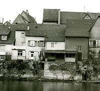 Ansicht von der Enz aus - von Westen / Wohnhaus in 74354 Besigheim (Stadtarchiv Besigheim)