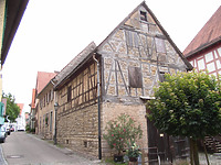 Ansicht von Westen / Scheune in 74354 Besigheim (2007 - Denkmalpflegerischer Werteplan, Gesamtanlage Besigheim, Regierungspräsidium Stuttgart)