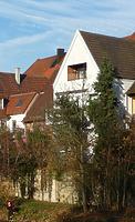 Ansicht von der Enz - von Westen / Wohnhaus mit Scheune in 74354 Besigheim (2016 - M. Haußmann)