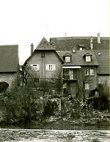 Hinstorische Aufnahme, Ansicht von Westen / Wohnhaus mit Scheune in 74354 Besigheim (Stadtarchiv Besigheim)