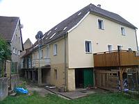 Ansicht von Norden / Wohnhaus, Untere Enzmühle (Schellenmühle) in 74354 Besigheim (2007 - Denkmalpflegerischer Werteplan, Gesamtanlage Besigheim, Regierungspräsidium Stuttgart)