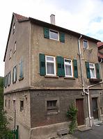 Wohnteil des Anwesens, Ansicht von Süden / Wohnhaus mit Doppelscheune in 74354 Besigheim (2007 - Denkmalpflegerischer Werteplan, Gesamtanlage Besigheim, Regierungspräsidium Stuttgart)