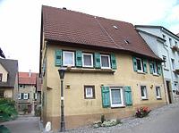 Ansicht von Norden / Wohnhaus, Weingärtnerhaus in 74354 Besigheim (2007 - Denkmalpflegerischer Werteplan, Gesamtanlage Besigheim, Regierungspräsidium Stuttgart)