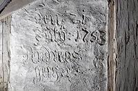 Detail Inschrift / Historischer Einfirsthof in 72336 Balingen, Ostdorf (25.02.2016 - strebewerk. Architekten GmbH)