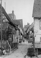 Vorstadt Mittelabschnitt, Richtung Süden  um 1950 / Vorstadt in 74354 Besigheim (Stadtarchiv Besigheim)