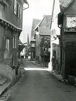 Eingang von der Hauptstraße vor 1960 / Vorstadt in 74354 Besigheim (Stadtarchiv Besigheim)