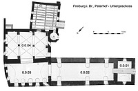 Peterhof (ehem. Stadthof) des Klosters Sankt Peter auf dem Schwarzwald in 79098 Freiburg,  keine genauere Zuordnung (08.09.2016)