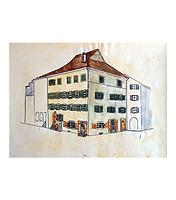 """Eckhaus """"zum Bub(en)"""" in 78462 Konstanz (14.09.2016 - Hauses """"zum Bub"""", Mitte 19. Jahrhundert (Kopie Paul Motz, Stadtarchiv Konstanz; Original im Rosgartenmuseum Konstanz))"""