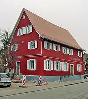 Ehem. Meierhof, Südwestansicht / Ehem. Meierhof, sog. Alte Post in 79365 Rheinhausen, Oberhausen (Fotoarchiv Freiburg, Landesamt für Denkmalpflege)