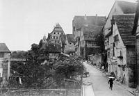 Ansicht von Norden / Oberamteigasse in 74354 Besigheim (ca. 1930 - Archiv Besigheim)
