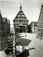 Blick nach Westen um 1950 / Marktplatz in 74354 Besigheim (Stadtarchiv Besigheim)