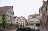 Blick nach Osten um 2003 / Marktplatz in 74354 Besigheim (2007 - Denkmalpflegerischer Werteplan,  Gesamtanlage Besigheim  Regierungspräsidium Stuttgart)