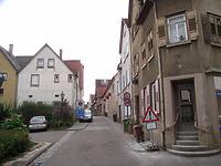 Eingang von der Hauptstraße Richtung Süden / Entengasse in 74354 Besigheim (2007 - Denkmalpflegerischer Werteplan, Gesamtanlage Besigheim, Regierungspräsidium Stuttgart)