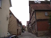 Mittelteil in Richtung Süden / Entengasse in 74354 Besigheim (2007 - Denkmalpflegerischer Werteplan, Gesamtanlage Besigheim, Regierungspräsidium Stuttgart)